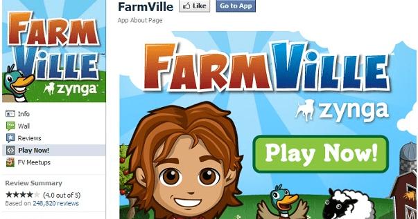 เกมส์อย่าง farmville โด่งดังมากในยุคแรก ๆ ของ facebook