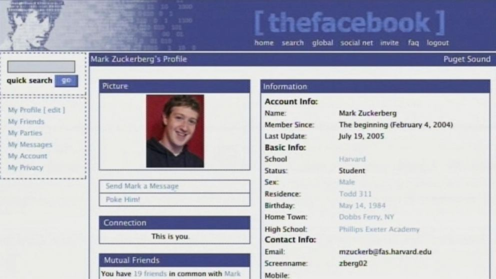version แรก thefacebook เรียบหรู ดูดี ครบทุกฟังก์ชั่น social