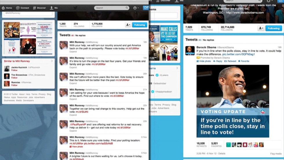บารัค โอบามา ใช้ twtter หาเสียงจนประสบความสำเร็จในปี 2008