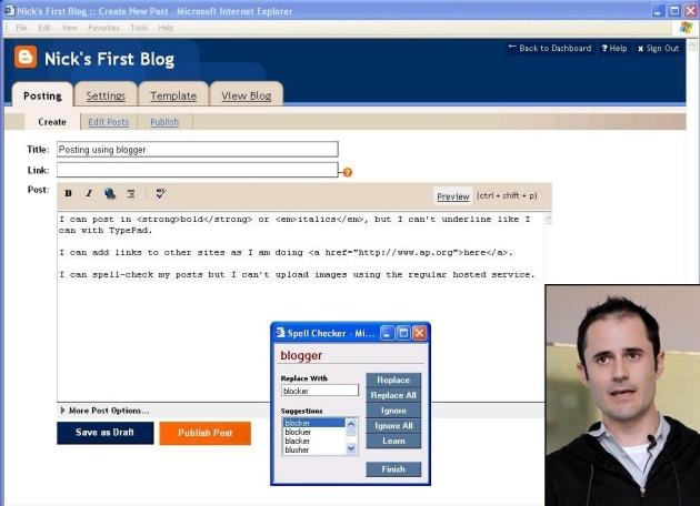 ทดลองเอา blogger มาดัดแปลงเป็น twittlog เพื่อทดสอบว่าจะ work หรือไม่?