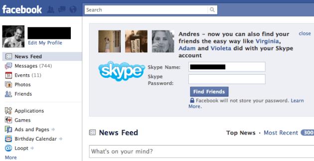 skype for facebook ที่ลูกพี่ใหญ่อย่าง microsoft ส่งมาช่วย facebook ได้ทันเวลา