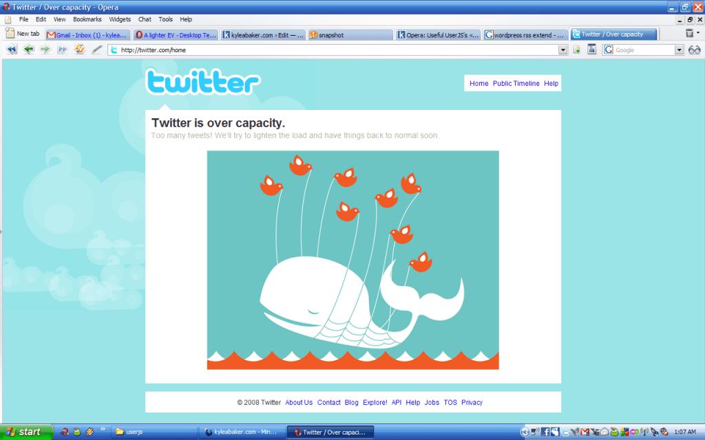 ปัญหาใหญ่ของ twitter คือล่มบ่อยมาก