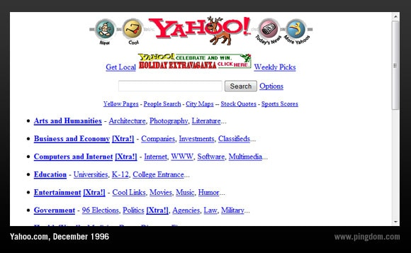 yahoo search engine ชื่อดังก่อนยุค google ครองโลก