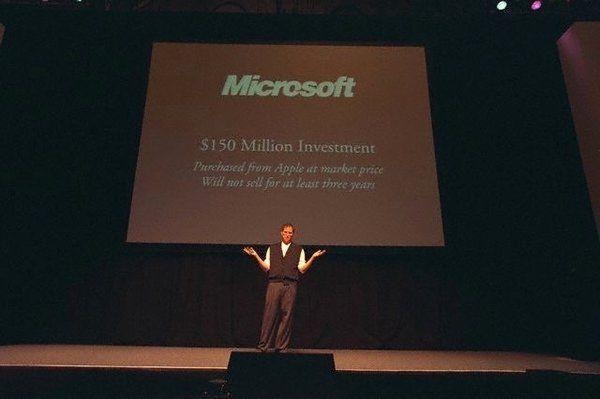 ประกาศความร่วมมือกับ microsoft เพื่ออนาคตของ apple ยุคใหม่