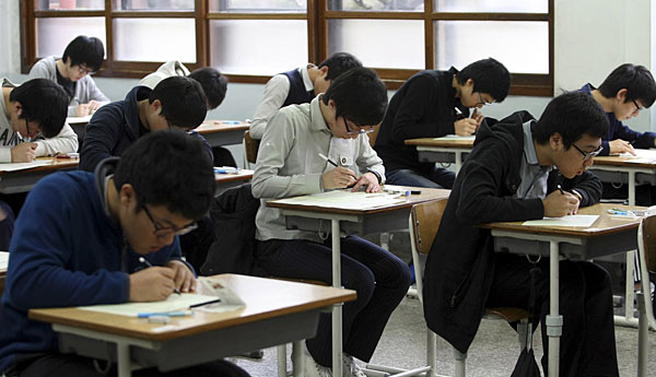 การแข่งขันด้านการเรียนในเกาหลีใต้ นั้นสูงมากที่สุดแห่งหนึ่งของโลก