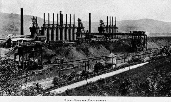 สร้างโรงงานผลิตเหล็กกล้าแห่งแรก