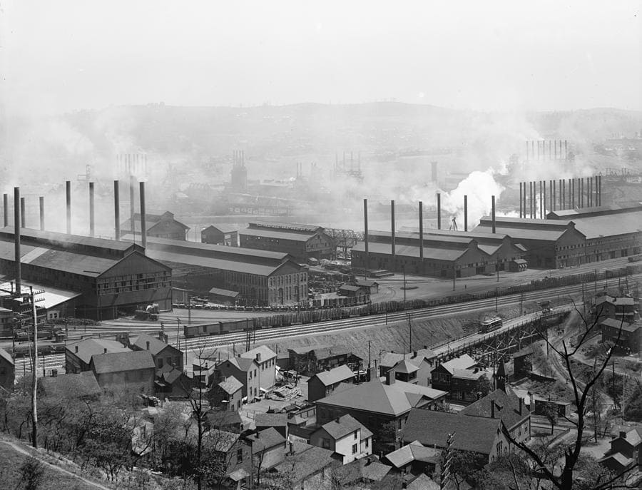 โรงงานเหล็กที่ใหญ่ที่สุดเท่าที่ Carnegie เคยสร้างมา Homestead Steel work
