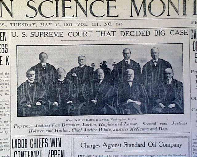 คดีประวัติศาสตร์ของประเทศอเมริการะหว่างประชาชนกับบริษัท Standard Oil