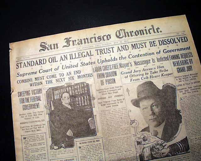 ข่าวหน้าหนึ่งทั่วประเทศ บริษัท Standard Oil กลายเป็นบริษัทที่ประชาชนเกลียดมากที่สุด