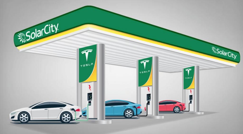 SolarCity ให้พลังงานแสดงอาทิตย์แก่ SuperCharger ของ Tesla