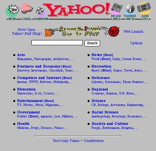 Yahoo ที่มองตัวเองเป็นเว๊บไดเรคทอรี่ เสียมากกว่า