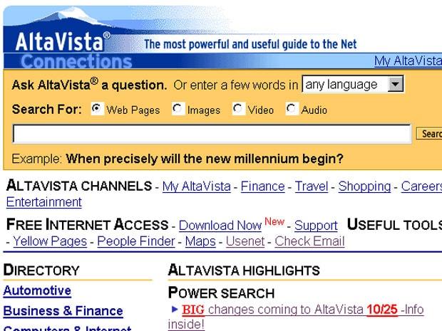 ความต้องการแรกคือต้องการขาย อัลกอริทึม ให้ AltaVista เพื่อยกระดับการค้นหาให้ดียิ่งขึ้น แต่ก็โดนปฏิเสธ