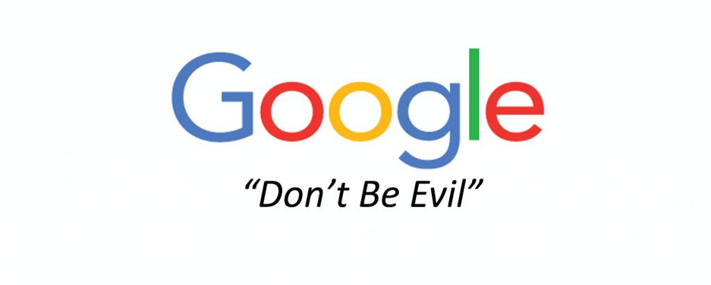 Don't Be Evil คำขวัญประจำใจของ Google