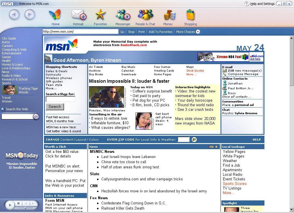 MSN ของยักษ์ใหญ่อย่าง Microsoft ยังไม่รู้ว่าจะถูกแย่งชิงเค้กจากเม็ดเงินโฆษณาออนไลน์โดย Google
