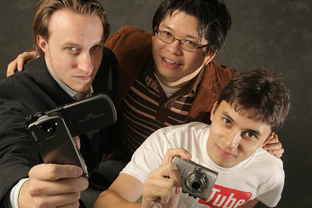 Chad , Steve และ Jawed สามผู้ก่อตั้ง Youtube