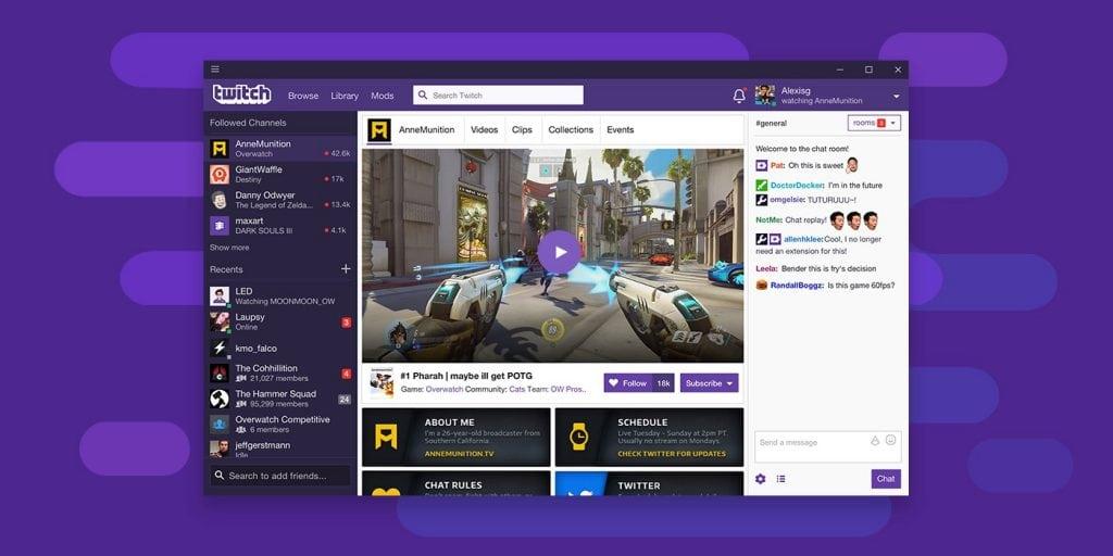 Twitch คู่แข่งรายสำคัญในตลาดอเมริกา
