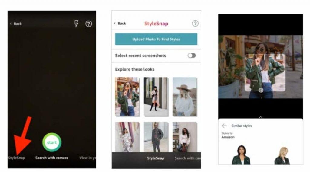 StyleSnap ที่ amazon นำพลังของ AI มาช่วย