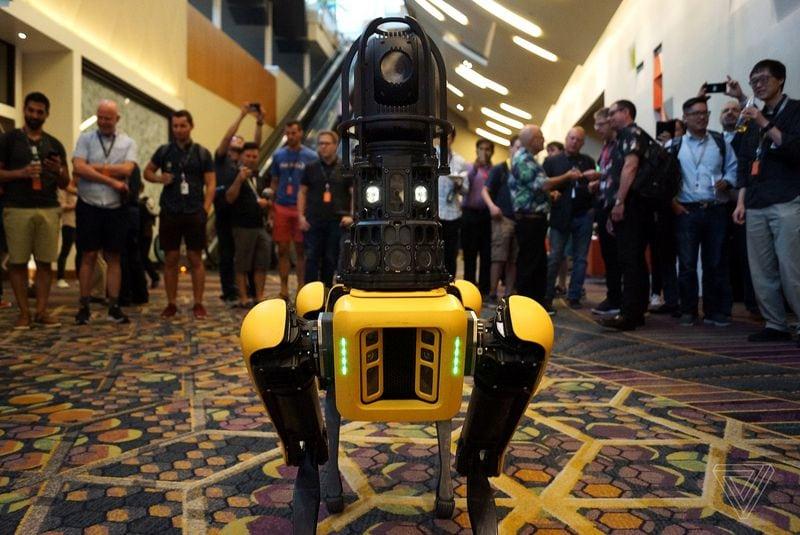หุ่นยนต์ Spot ที่มาโชว์ในงาน MARS Conference ที่ลาสเวกัส