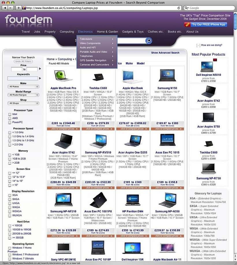 Foundem เว๊บเปรียบเทียบราคาชื่อดังที่ถูก google ลดอันดับการค้นหา