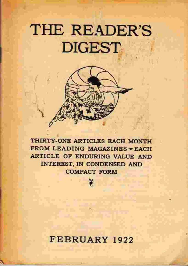 Reader's Digest ฉบับแรกในปี 1922