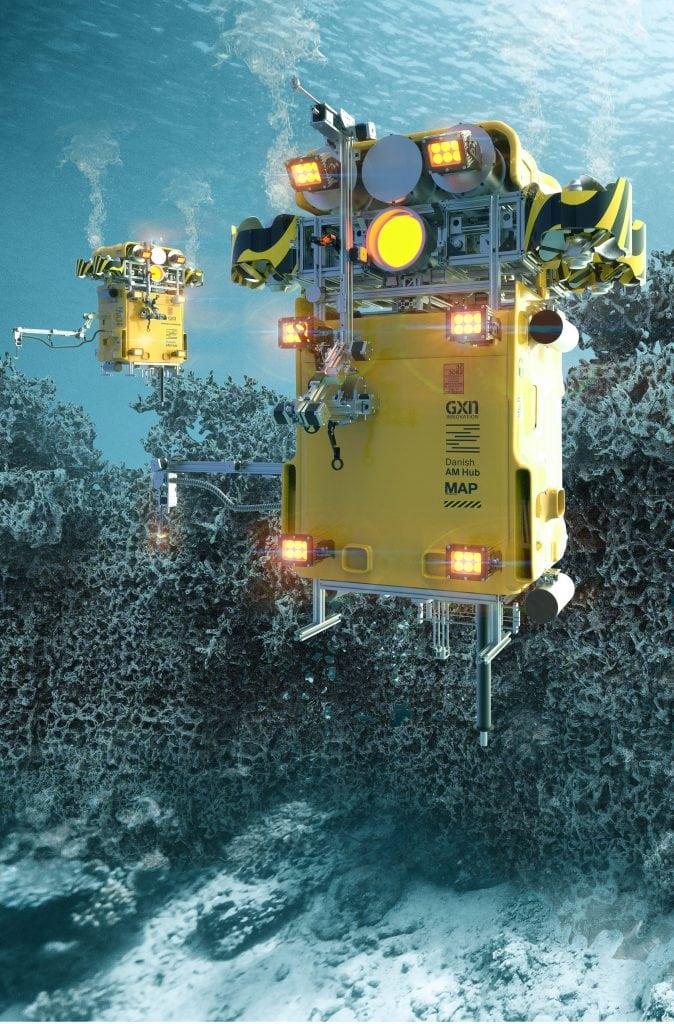 หุ่นยนต์ที่มีวัตถุประสงค์เพื่อสร้างแนวปะการังเทียมเพื่อป้องกันการกัดเซาะชายฝั่ง