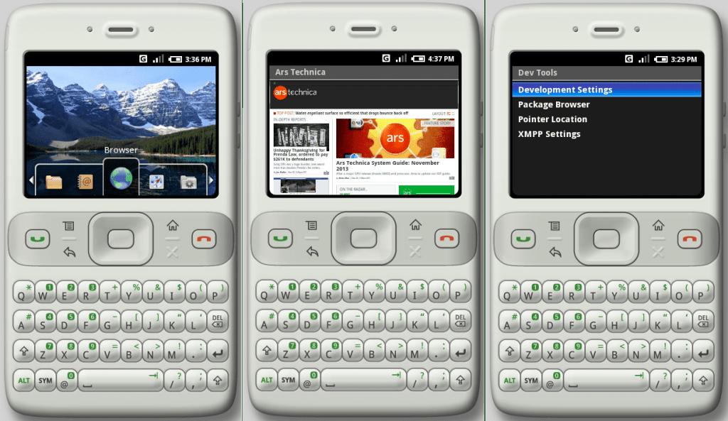 เดิมที Android ถูก Design มาให้ใช้ QWERTY Keyboard แบบเดียวกับ  Blackberry