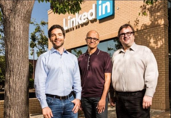 Linkedin ที่สุดท้ายได้กลายมาเป็นส่วนหนึ่งของ Microsoft