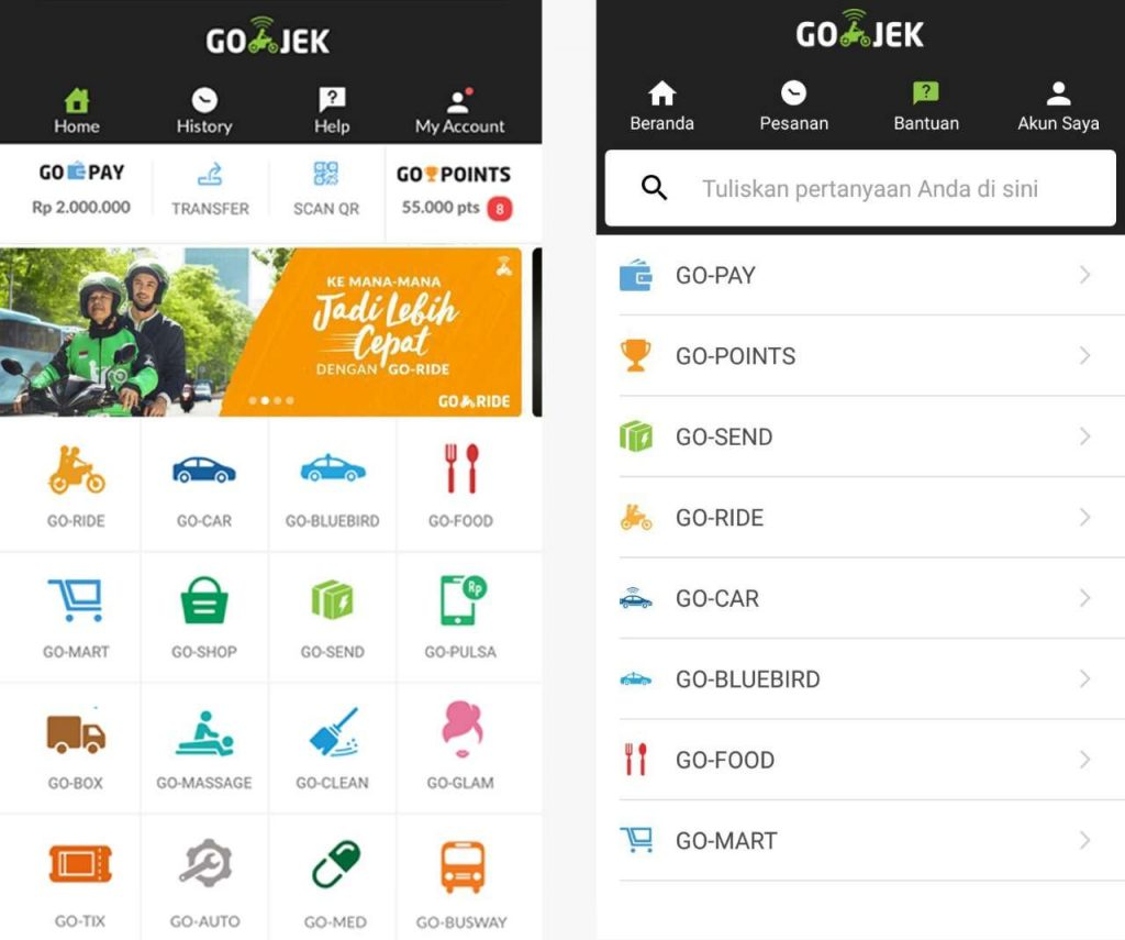 ขยายบริการไปยังส่วนต่าง ๆ ครอบคลุมทุกบริการผ่าน app Go-Jek