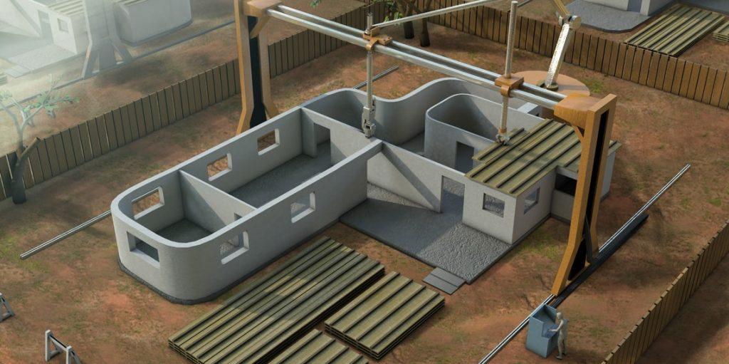 การสร้างบ้านด้วยเทคโนโลยี เครื่องพิมพ์ 3 มิติ