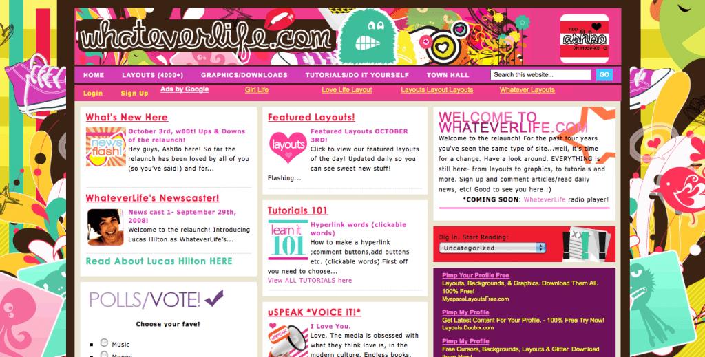 Whatlife.com สร้างเป็น community สำหรับวัยรุ่น