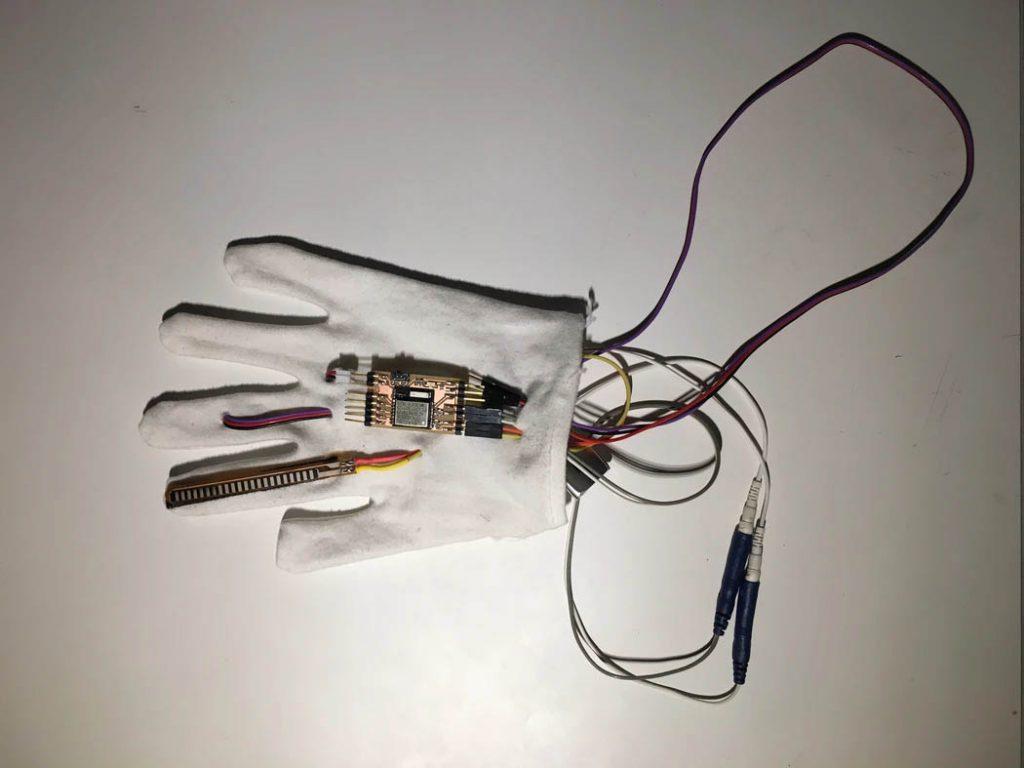 อุปกรณ์ถุงมือ Dormio Globe (ภาพจาก MIT)