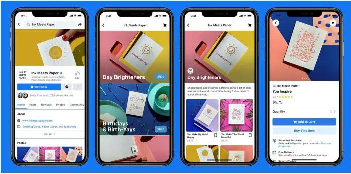 ร้านค้า Facebook จะอนุญาตให้ผู้ขายสร้างหน้าร้านดิจิทัลบน Facebook หรือ Instagram