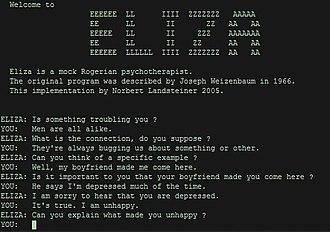 Eliza ตัวอย่าง Chatbot ยุคแรก ๆ จาก MIT