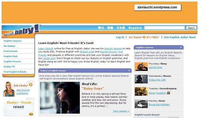 Enlish Baby! กับการลองธุรกิจดอทคอมครั้งแรกของ Miguel (CR:daniauchi.wordpress.com)