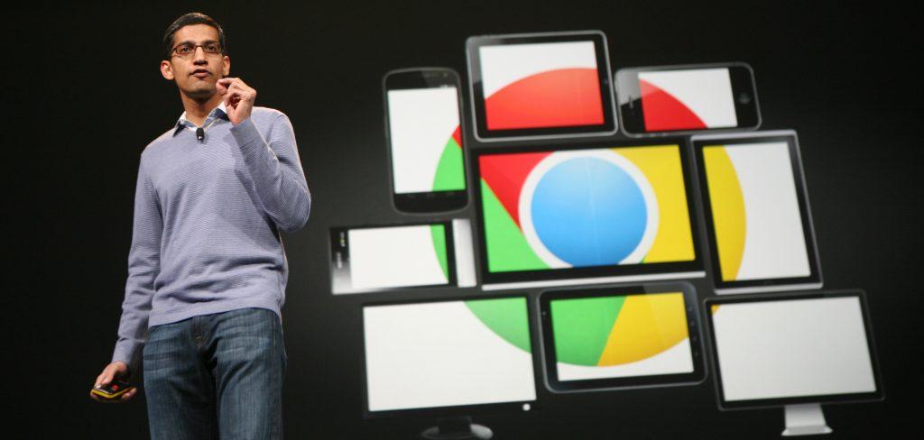 Google Chrome กับผลงานแจ้งเกิดของ Pichai (CR:Techglimpse)