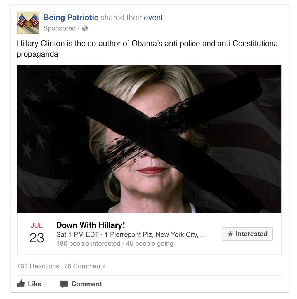 Hillary Clinton ที่ถูกโจมตีอย่างรุนแรงผ่านเครือข่ายโซเชีลมีเดียในช่วงท้ายของการเลือกตั้ง (CR:The New York Times)