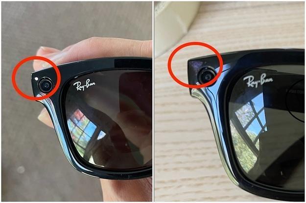 แสงปรากฏขึ้นที่มุมของเฟรมแว่นตาเพื่อบ่งบอกว่ากำลังบันทึกวีดีโออยู่ (CR:Yahoo News)