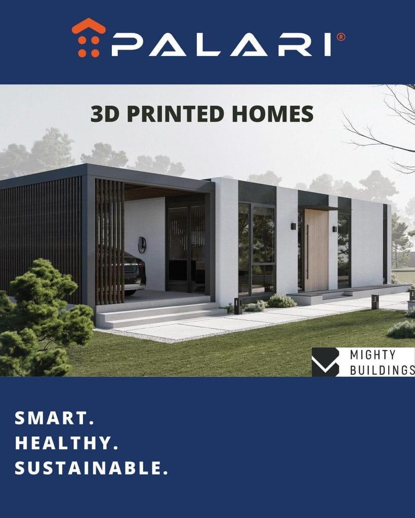 Palari Homes กับโฆษณา 3D Printed Homes บนโซเชียลมีเดีย (CR: facebook/palarigroup)