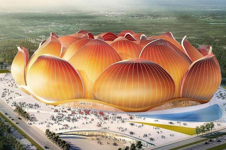 สนามฟุตบอลดอกบัวยักษ์ ที่ใหญ่ที่สุดในโลก แลนด์มาร์คใหม่ของจีน (CR:ArchDaily)